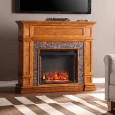 akdy 36 in wall mount electric fireplace heater in wooden brown