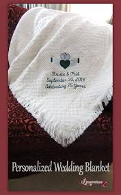 personalized wedding blanket 9 best personalized wedding blankets images on wedding