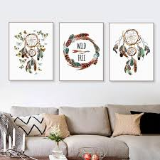 online shop vintage indian dreamcatcher feather butterfly a4