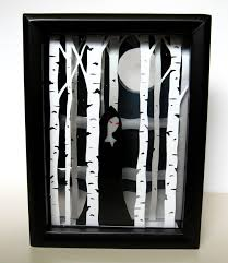 hudson valley etsy new york diy tutorial shadow box halloween