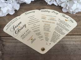 Fan Wedding Program Kits Simplicity Heartfelt Wedding Programs Fan By Infinitypaperbtq