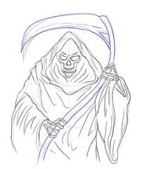 femal grim reaper art bing images coloring pages
