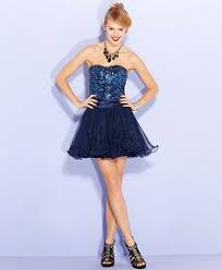 hailey logan juniors dress strapless sequin tiered tulle