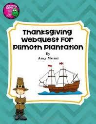plimoth plymouth plantation webquest thanksgiving student