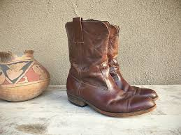 cowboy boots uk leather faux shoes romaarellano 1950s frye boots 9 d s brown