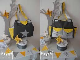 theme etoile chambre bebe grand sac à langer bébé fashion moderne nombreux rangements poches