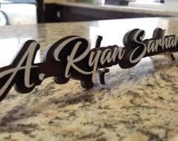 unique name plates desk name plate corporate gift work decor personalized