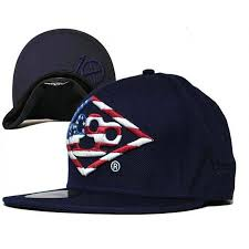Dope American Flag Deep Brass Knuckle American Flag Snapback Hat Navy