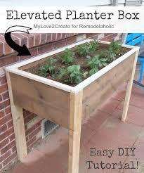 diy raised garden planter box do it your self