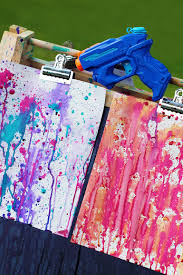gun painting amazing summer art for kids