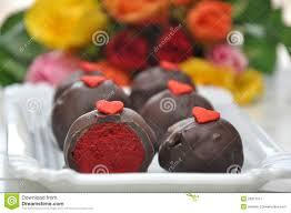 red velvet cake pops stock image image 29017571