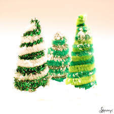 pipe cleaner christmas trees spun cotton shapes christmas craft