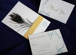 folding wedding invitations peacock feather folding wedding invitations stationery