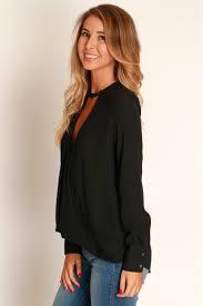 shoulder cut out blouse cutout blouse black