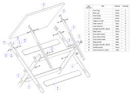 drafting table replacement parts how to make a portable drawing table table designs