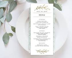 30 images of wedding menu card template infovia net