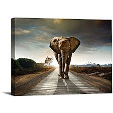 Elephant Decor For Home Amazon Com African Landscape Scenery Print Painting Beautiful