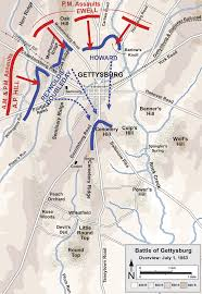 Map Of Custer State Park by Battle Of Gettysburg First Day Wikipedia