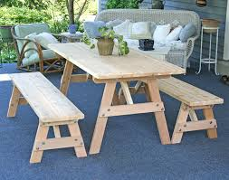 children s picnic table plans furniture cool round picnic table with attached benches converts