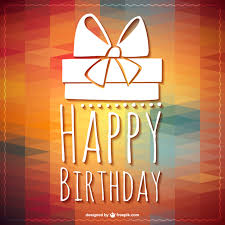 happy birthday lettering gift template vector free download
