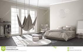 classic bedroom minimalistic interior design with scandinavian