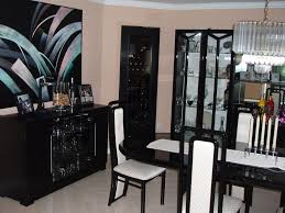 Fascinating Black Lacquer Dining Room Table Including Set - Black lacquer dining room set