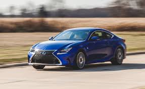 blue lexus 2015 2015 lexus rc350 f sport instrumented test u2013 review u2013 car and driver