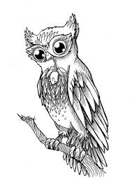 51 owl sitting on branch tattoos ideas