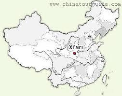 map of xi an xian maps maps of xian from chinatourguide