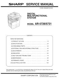 sharp ar 5726 ar 5731 sm pc pdf electrical connector fax