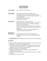 legal secretary job description for resume resume examples 2017
