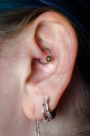 hoop cartilage piercing daith piercing