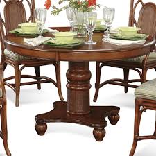 Round Pedestal Dining Room Table Braxton Culler Palmetto Place Tropical Round Pedestal Dining Table