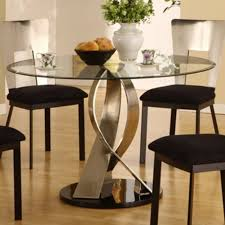 Glass Circular Dining Table Glass Top Dining Room Sets With Sirio Glass Dining Table