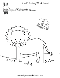 Preschool Worksheet Free Preschool Lion Coloring Worksheet