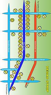 Las Vegas Strip Map by Las Vegas Maps Wizard Of Vegas