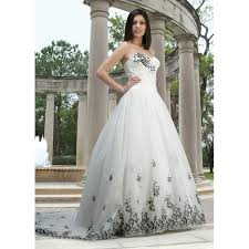 black and white wedding dresses black and white wedding gowns