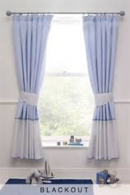 Nursery Curtains Next New Next Blue White Days Pencil Pleat Curtains Blackout 168