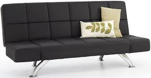 Faux Leather Sofa Sleeper Buy Serene Venice Black Faux Leather Sofa Bed Cfs Uk