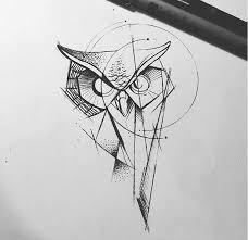 modern geometric owl ideas design inspiration ideas ink