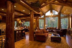 Log Home Interiors Photos Gallery Edgewood Log Homes View View View Great Room