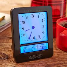 wall mounted digital alarm clock atomic digital analog alarm clock national geographic store