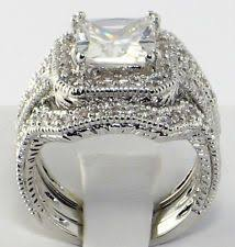princess cut cubic zirconia wedding sets 8 best 20 year anniversary images on jewelry vintage