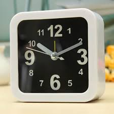 bedroom clocks white mini travel alarm clocks quartz alarm beep bedside clock