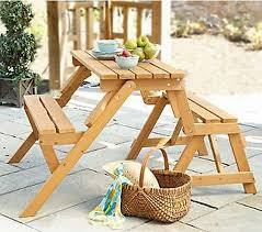 picnic table bench plans interchangeable picnic table or garden bench mpg act04
