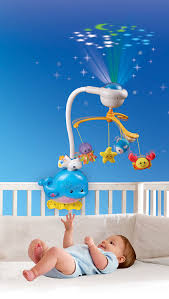 baby crib lights toys amazon com vtech baby soothing ocean slumbers mobile toys games