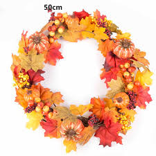 artificial plant flower berry fall maple leaves door wall