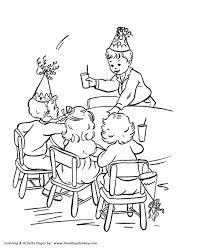 birthday coloring pages free printable kids play birthday
