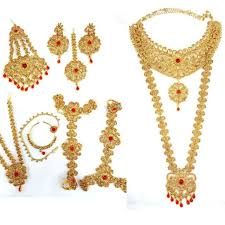 red necklace jewelry images Traditional red lct cz gold tone necklace indian bridal dulhan jpg