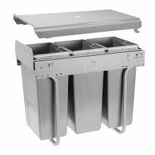 poubelle coulissante cuisine charmant poubelle de cuisine tri sélectif 3 bacs avec poubelle